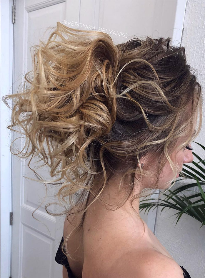 Messy Updo Hairstyles That Will leave You Speechless : Pretty Textured Updo Hairstyle