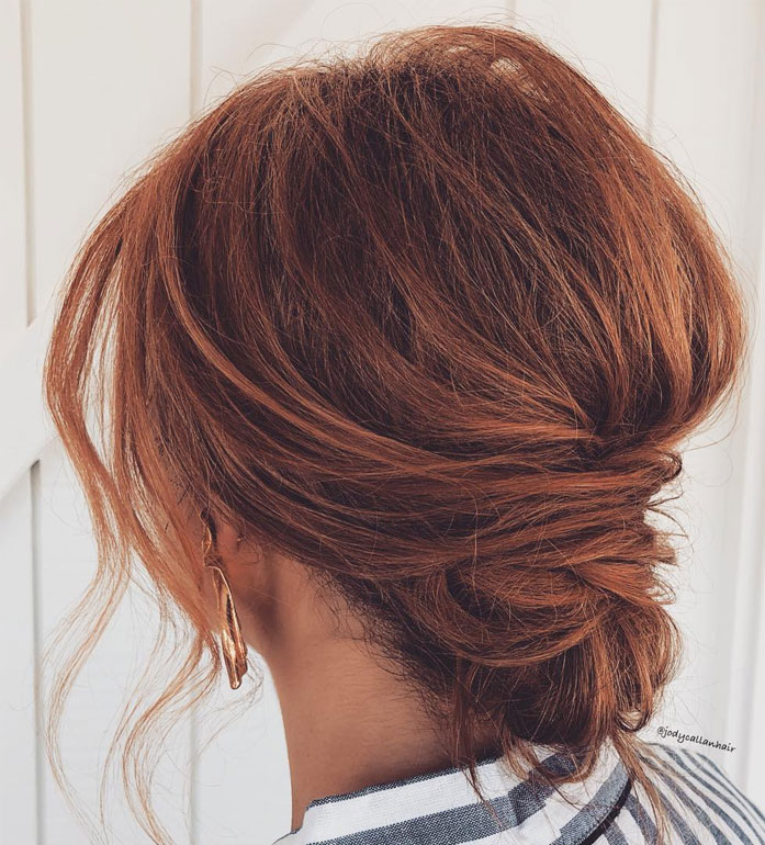 Messy Updo Hairstyles That Will leave You Speechless : Messy Updo Hairstyle Featured Red Hair