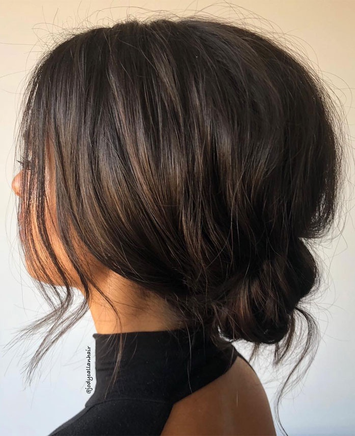 Messy Updo Hairstyles That Will leave You Speechless : Messy Updo Hairstyle for short hair
