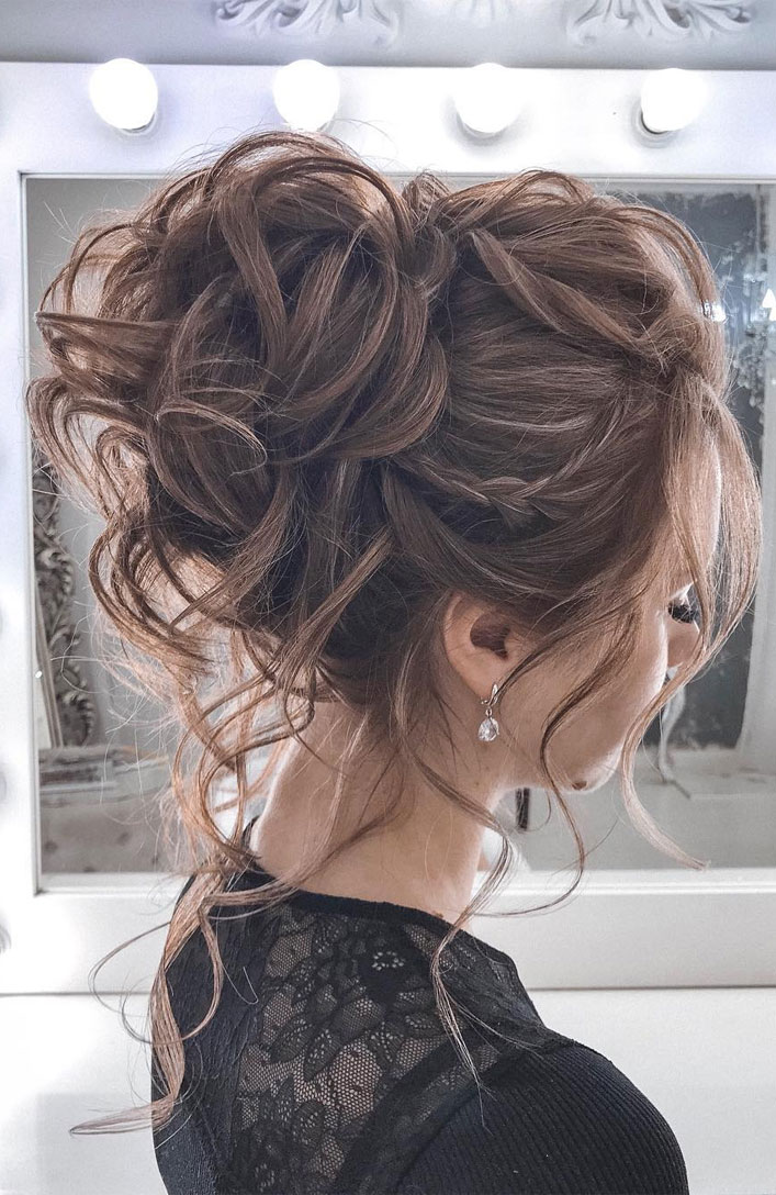 Messy Updo Hairstyles That Will leave You Speechless : Beautiful Textured Updo Hairstyle