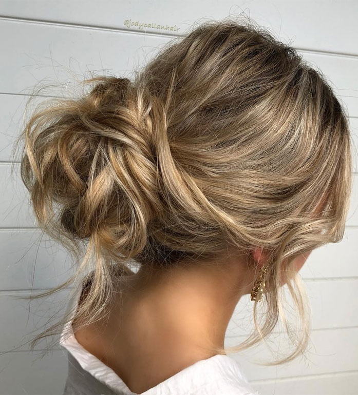 Messy Updo Hairstyles That Will leave You Speechless : Easy Updo Hairstyle