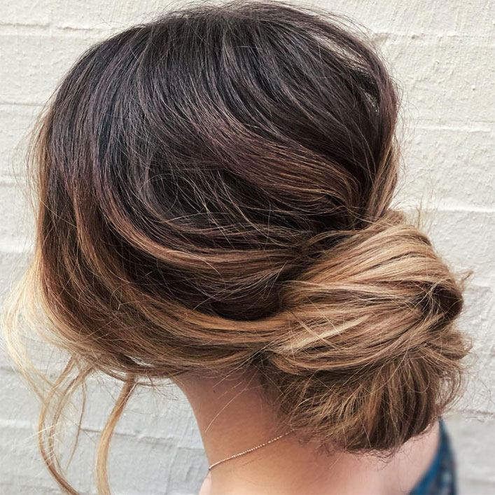Messy Updo Hairstyles That Will leave You Speechless :  Simple Messy Updo Hairstyle