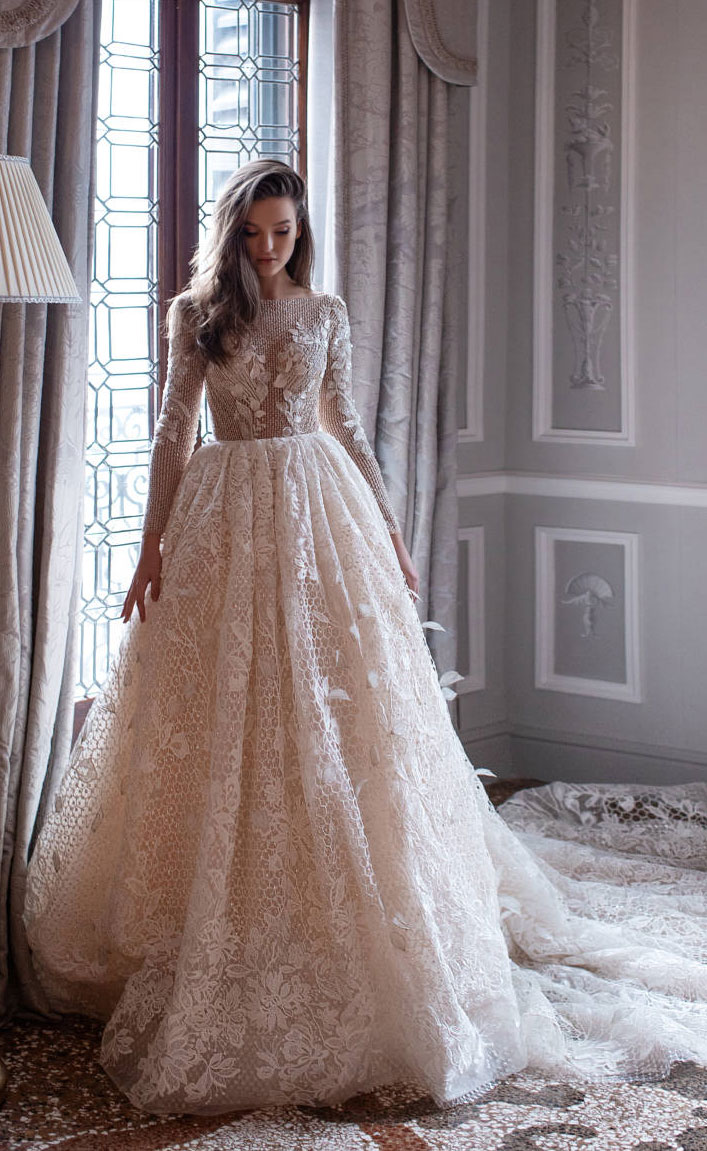 Stunning wedding dress - long sleeve ball gown wedding dress  Milla Nova #wedding #bridedress wedding dresses
