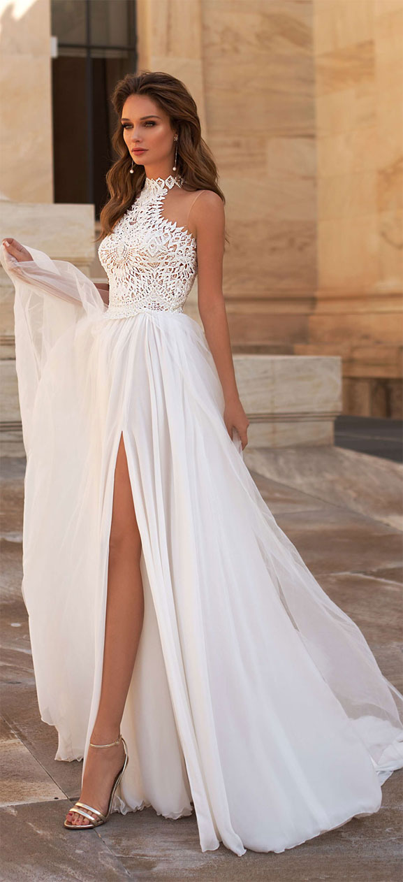 These Halter Neck Wedding Dresses Are Out Of This World Beautiful