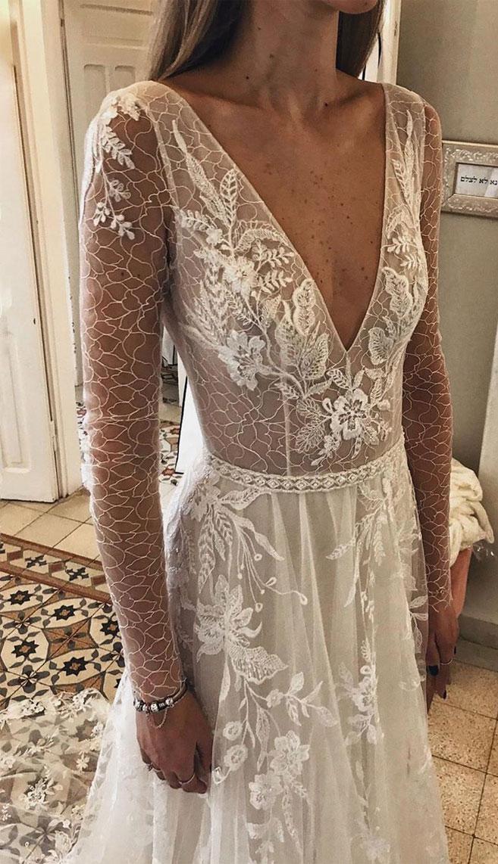 Wedding Dresses with romantic details – long sleeve wedding dress