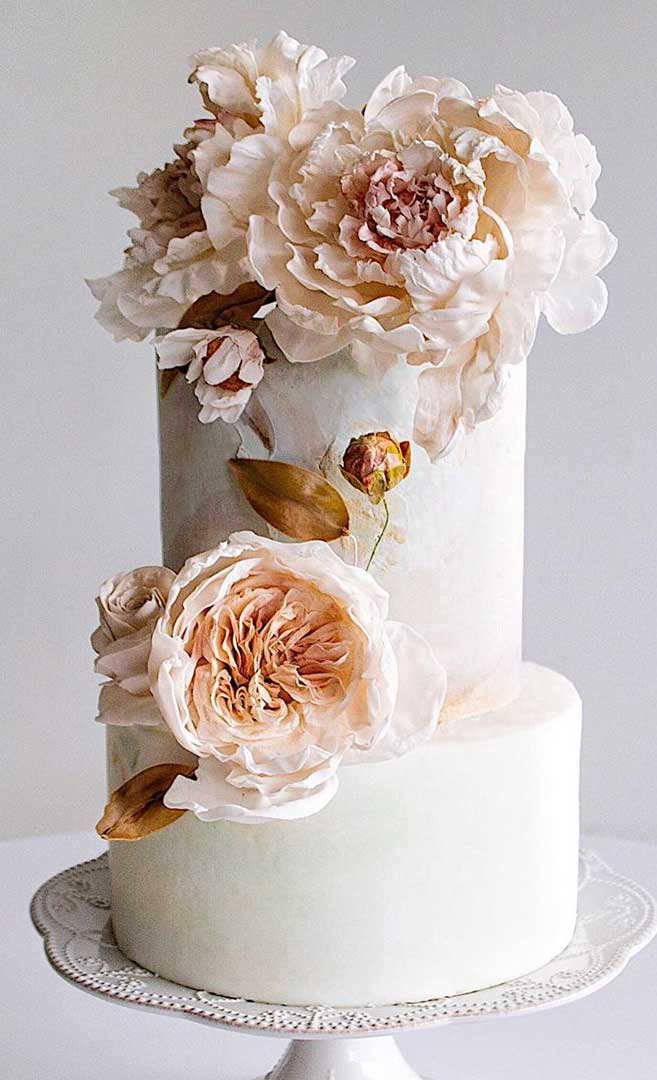 59 pretty wedding cake designs, painted wedding cake, unique wedding cakes, pretty wedding cake, simple wedding cake ideas, modern wedding cake designs, wedding cake designs 2019, wedding cake pictures gallery, wedding cake gallery, painted wedding cake, painted butter wedding cake, painted buttercream flowers, textured buttercream cake, painting with buttercream, painted cakes