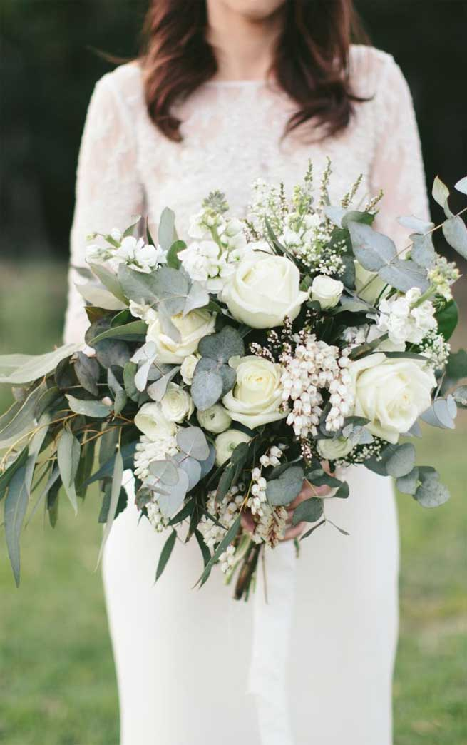 39 prettiest wedding bouquets 2020, greenery wedding bouquet, wedding bouquets, bridal bouquets, spring wedding bouquets, summer wedding bouquets, wedding bouquet ideas, romantic white wedding bouquets, unique wedding bouquet ideas, wedding bouquet ideas for summer, simple bridal bouquet ideas, greenery wedding bouquet ideas