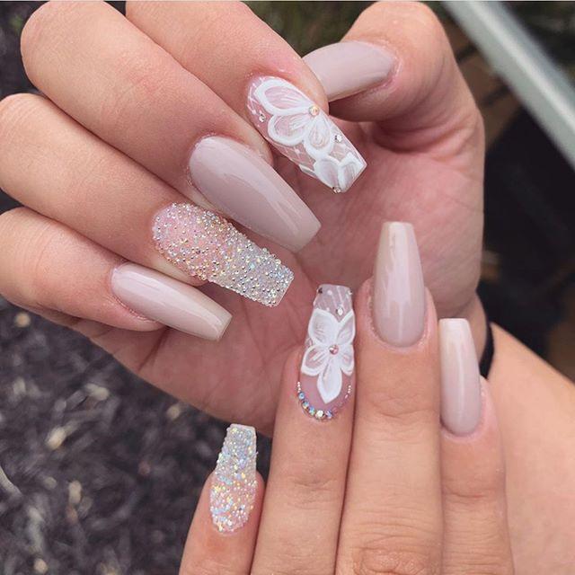 32 pretty and eye,catching nail art designs , Wedding