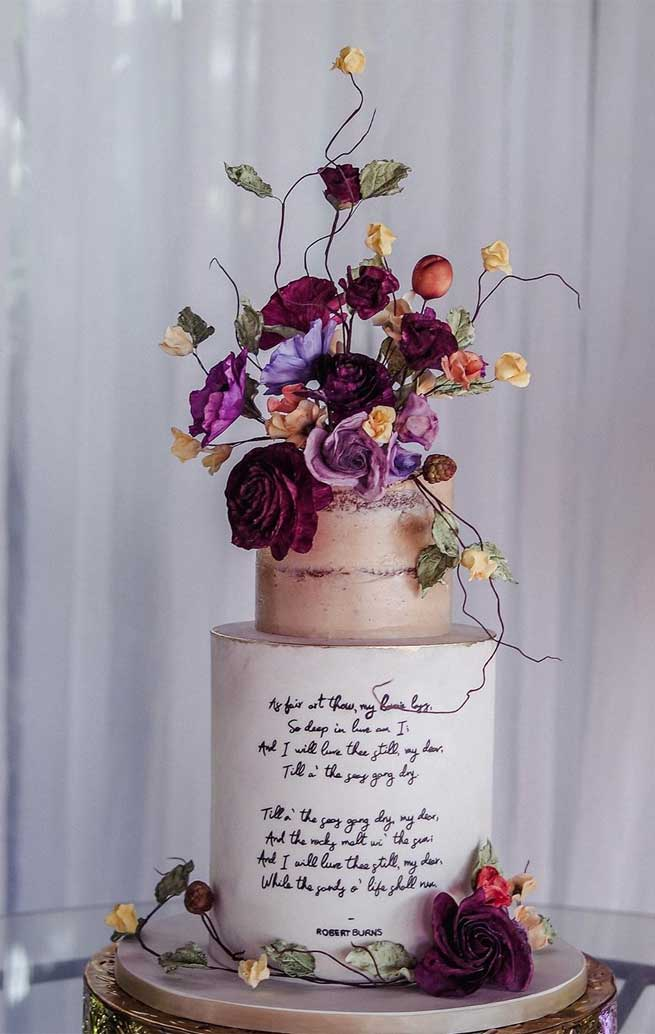 pretty wedding cake designs, painted wedding cake, unique wedding cakes, pretty wedding cake, simple wedding cake ideas, modern wedding cake designs, wedding cake designs 2019, wedding cake pictures gallery, wedding cake gallery, hexagon wedding cakes