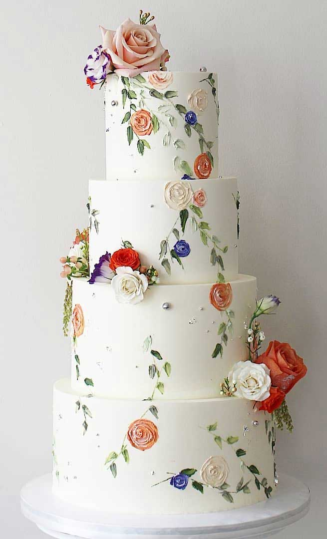 pretty wedding cake designs, painted wedding cake, unique wedding cakes, pretty wedding cake, modern wedding cake designs, wedding cake designs 2019, wedding cake gallery, wedding cake trends 2019 , wedding cake trends for 2019, wedding cakes designs pictures, latest wedding cake trends, wedding cake 2019, wedding cake trends 2020, new cake trends 2020, cake decorating trends 2019