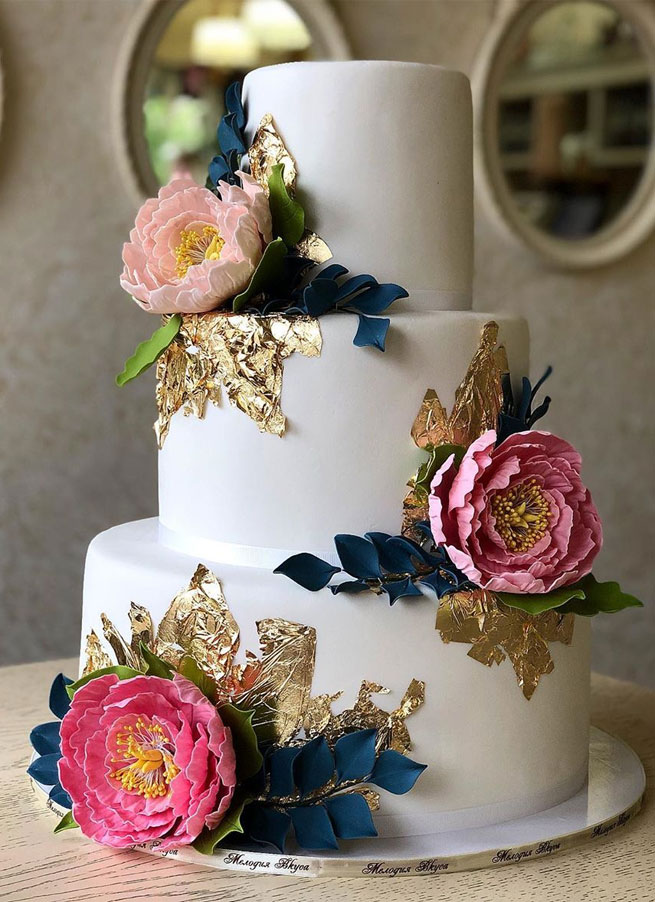 pretty wedding cake designs, painted wedding cake, unique wedding cakes, pretty wedding cake, simple wedding cake ideas, modern wedding cake designs, wedding cake designs 2019, wedding cake pictures gallery, wedding cake gallery, beautiful wedding cakes