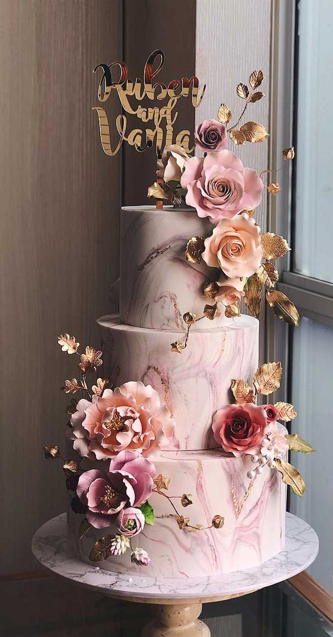 pretty wedding cake designs, painted wedding cake, unique wedding cakes, pretty wedding cake, elegant wedding cake ideas, modern wedding cake designs, wedding cake designs 2019, wedding cake pictures gallery, wedding cake gallery, square wedding cakes, best wedding cakes 2019