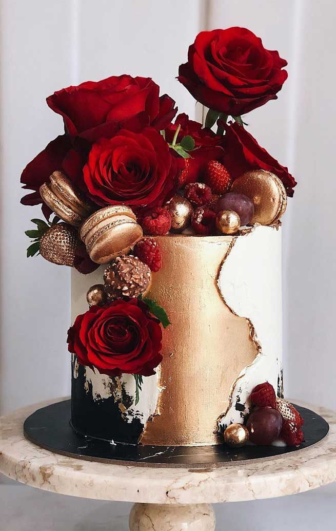 pretty wedding cake designs, painted wedding cake, unique wedding cakes, pretty wedding cake, beautiful wedding cake ideas, moody wedding cake designs, wedding cake designs 2019, wedding cake pictures gallery, wedding cake gallery, black wedding cakes