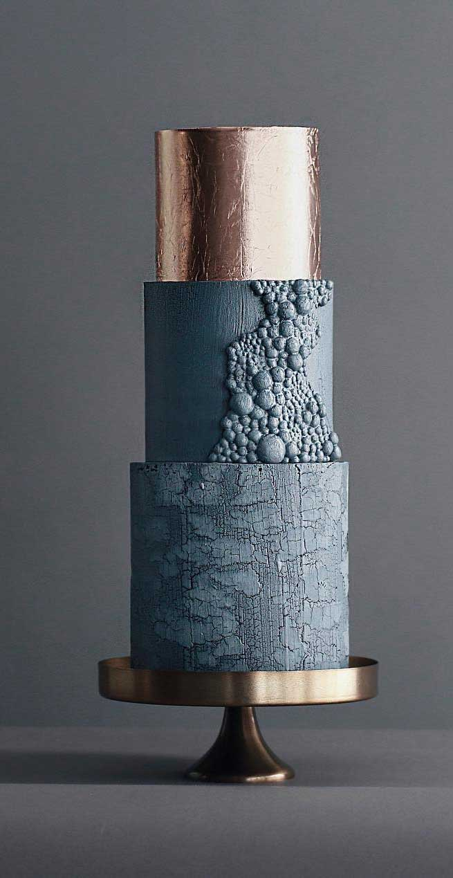 pretty wedding cake designs, painted wedding cake, unique wedding cakes, pretty wedding cake, concrete effect cake, wedding cake designs 2019, wedding cake pictures gallery, wedding cake gallery, square wedding cakes, moody wedding cake, black wedding cake, modern wedding cakes 2019, modern wedding cakes and styling