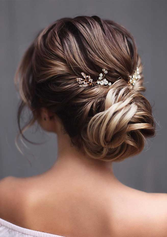 65 The most romantic wedding hairstyles 2019