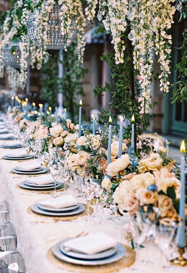 Prettiest Spring Wedding Ideas 2020 – An enchanting combination of pastel blues