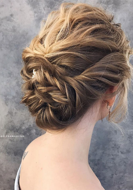 Elegant wedding hairstyles for beautiful brides – Textured updo