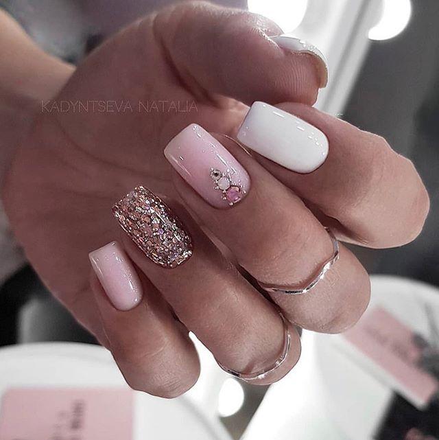 glitter nail art desings 12