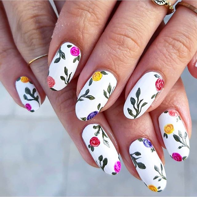 The 45 pretty nail art designs that perfect for spring looks 23