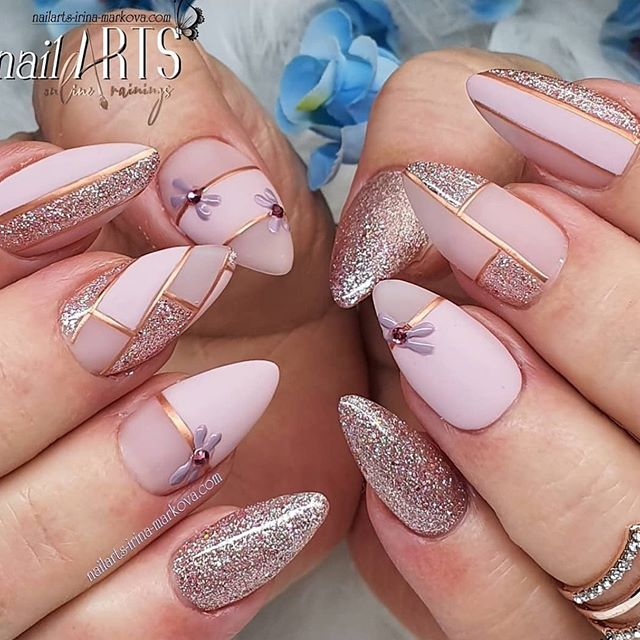 The 45 pretty nail art designs that perfect for spring looks 24