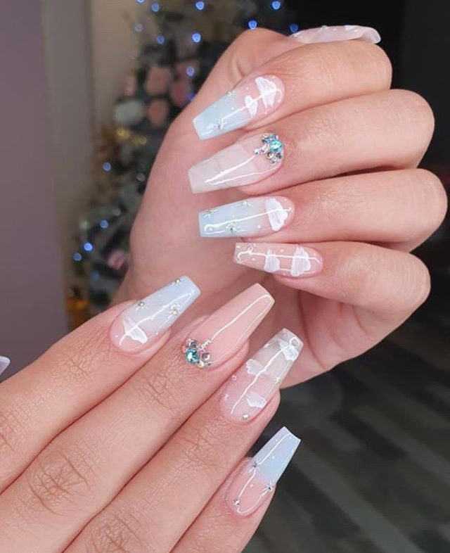 The 45 pretty nail art designs that perfect for spring looks 33