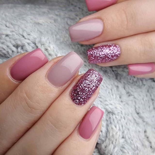 glitter nail art desings 34
