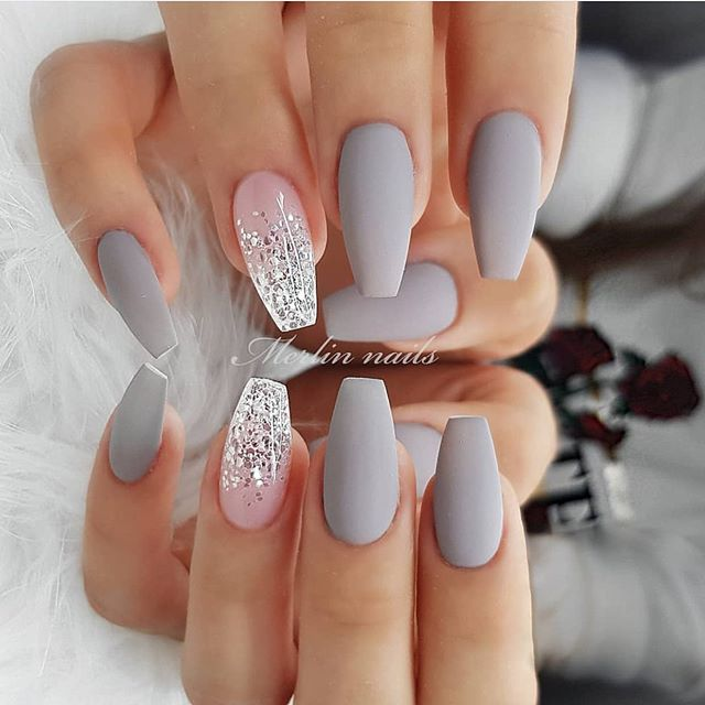 glitter nail art desings 38
