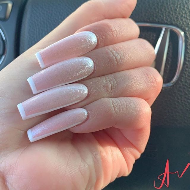 Pin By Tiffany White On Pretti Nails 2020 Glitter French Nails