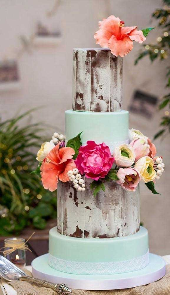 The perfect wedding cake for tropical wedding theme 25
