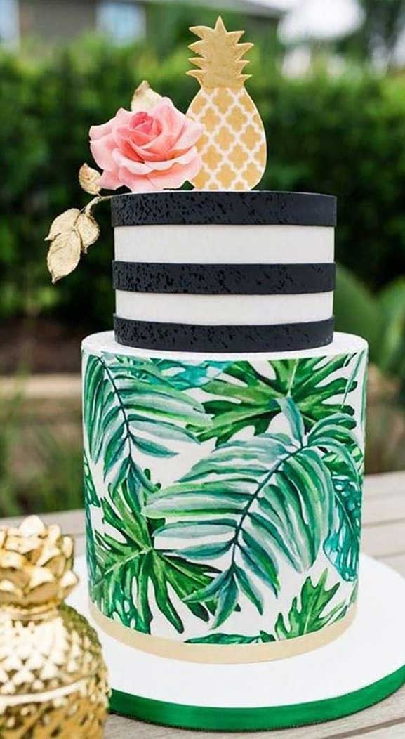 The perfect wedding cake for tropical wedding theme 12