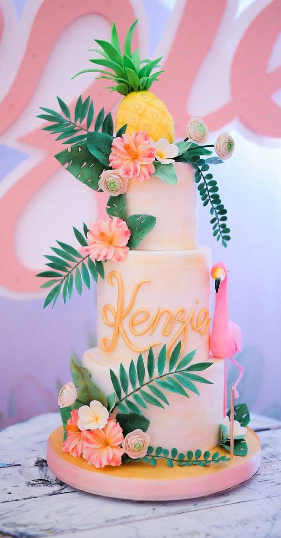 The perfect wedding cake for tropical wedding theme 20