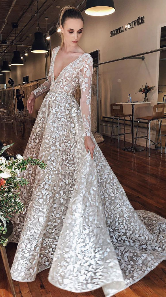 These Long sleeve wedding dresses are showstopper