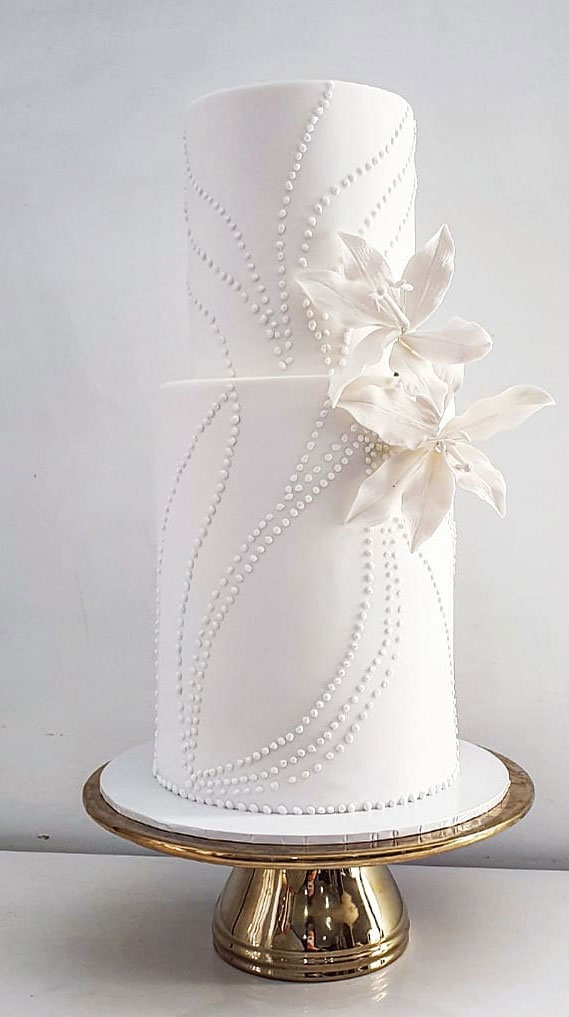 These wedding cakes are works of art