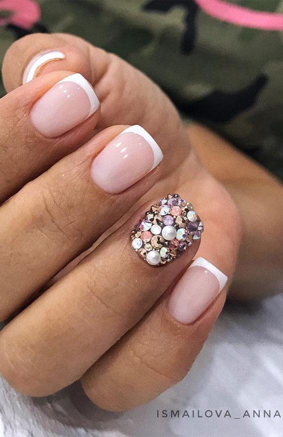 +32 Gorgeous Nail Art Designs – Minimal meet glam
