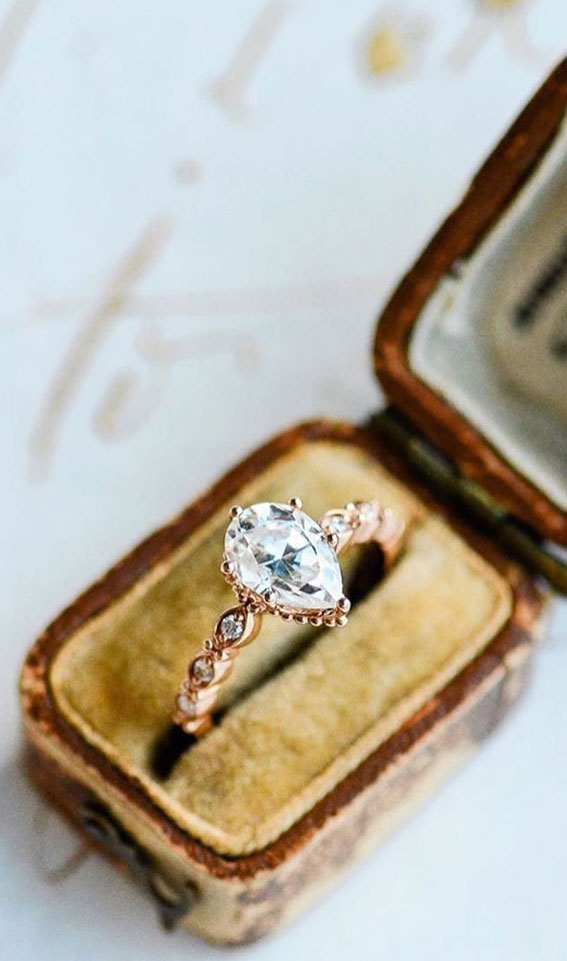 44 Insanely Gorgeous Engagement Rings – Pretty Pear Cut