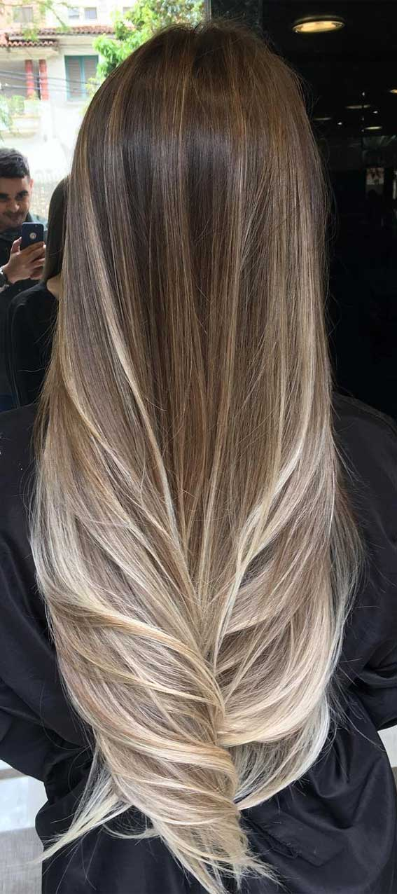 44 The Best Hair Color Ideas For Brunettes Blonde Ombre