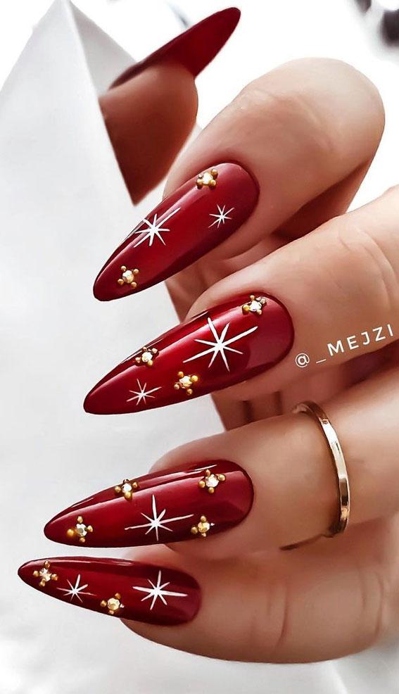Festive Christmas Nail Art Ideas Red Christmas Nails