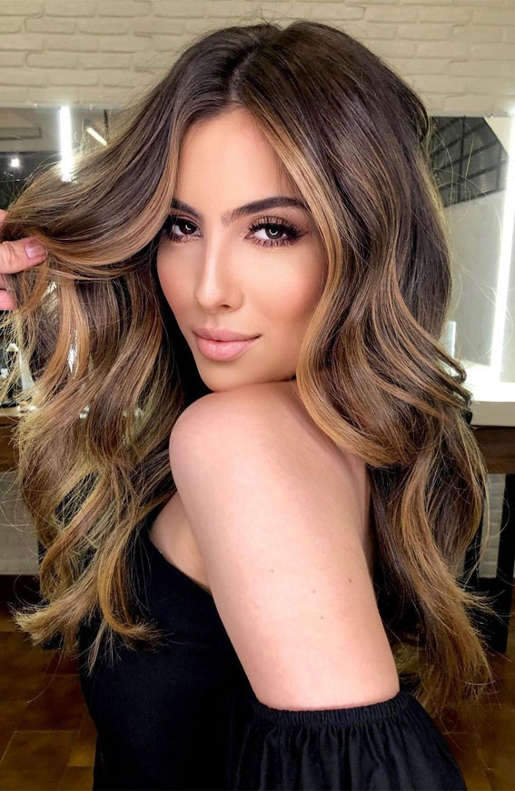 Beautiful Hair Colour Trends 2021 : Glam roasted coffee hair