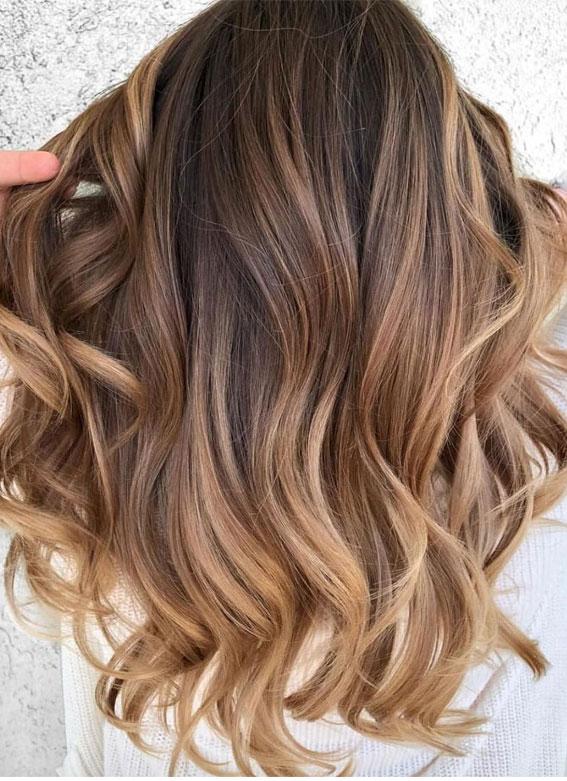 Hair Colour Trends 2021 | Vanilla Latte balayage hair color ideas | itakeyou