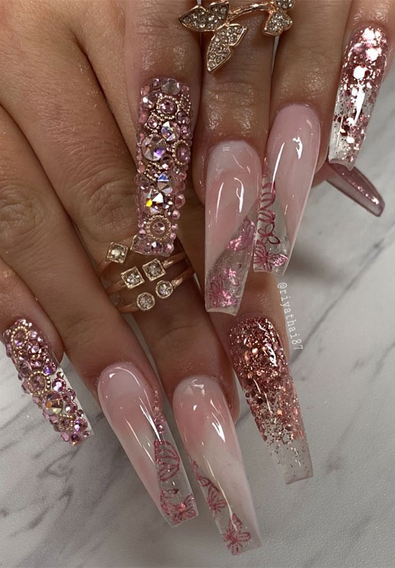 Summer Nail Designs You'll Probably Want To Wear : Glittery Nails