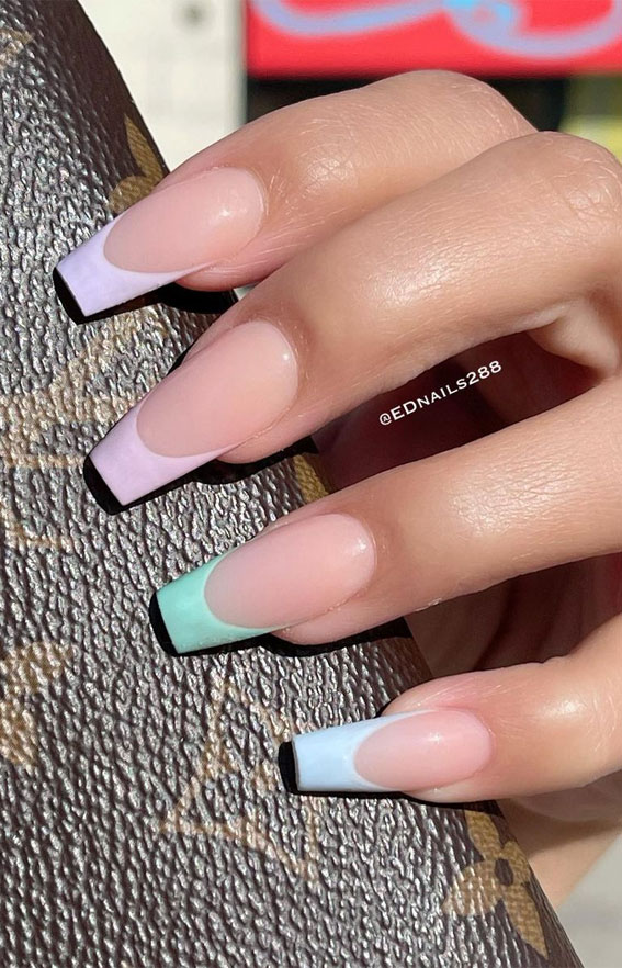 Summer Nail Designs You'll Probably Want To Wear : Pastel French
