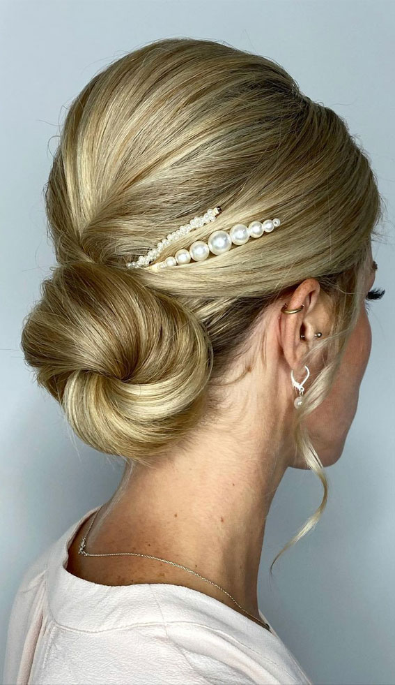 70 Latest Updo Hairstyles for Your Trendy Looks in 2021 : Trendytousled low knot