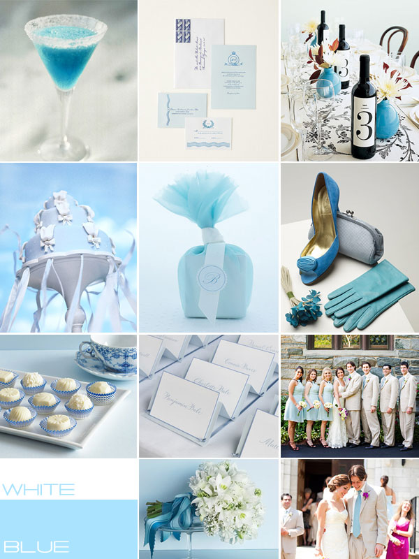 white wedding colour, Blue white wedding theme Ideas, wedding palettes