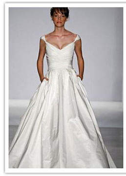 best wedding dress shape for broad shoulders