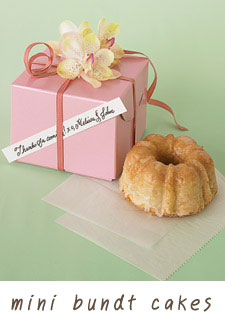 homemade mini bundt cake wedding favours