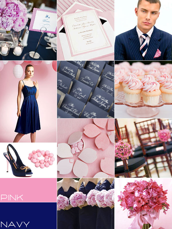 Navy Pink Wedding Colour Palettes Navy Blue Pink Wedding Theme Ideas