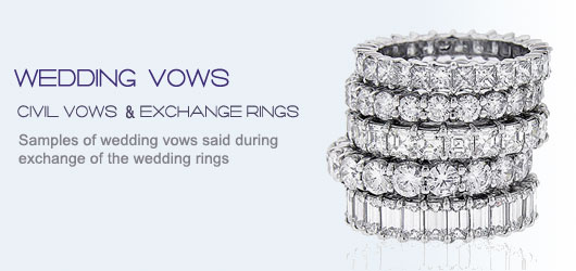 Wedding Vow said during the exchange of rings Itakeyoucouk