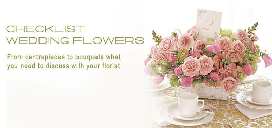 wedding flower checklist, wedding flower arrangements ideas