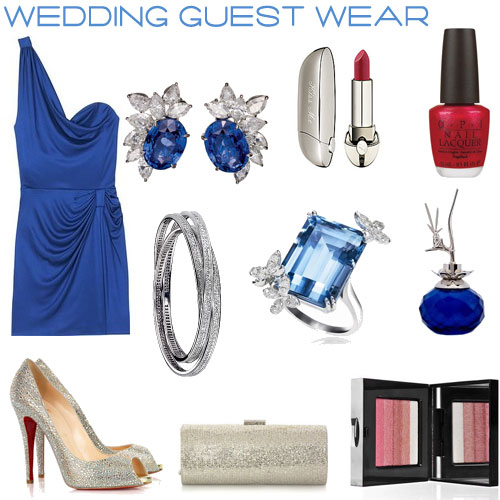 blue wedding guest wear, grey weding fashions