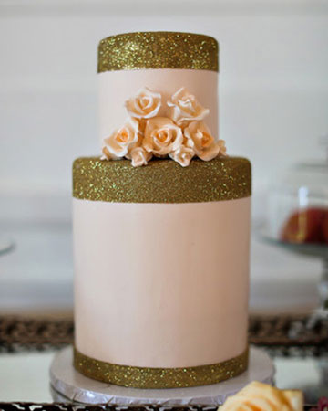 Champagne & Gold wedding cake, wedding cake